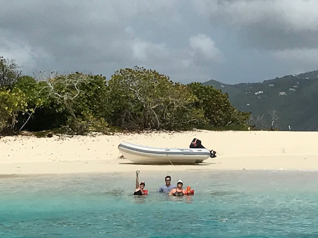 Charter guests at Sandy Spit