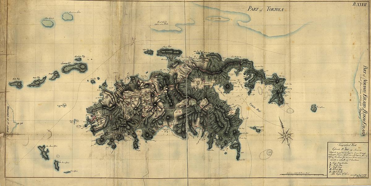 Map of Saint Jan (St. John) 1780
