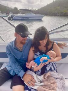 Thatch's first boat ride